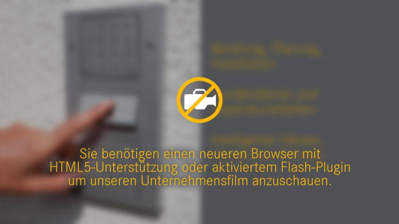Um unseren Unternehmensfilm sehen zu können, benötigen Sie einen aktuellen Browser mit HTML5-Unterstützung oder aktiviertem Flash-Plugin.